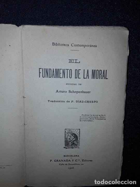 Libros antiguos: Schopenhauer. Su pensamiento acerca de la moral. Crítica a Kant. Filosofía. - Foto 3 - 208122771