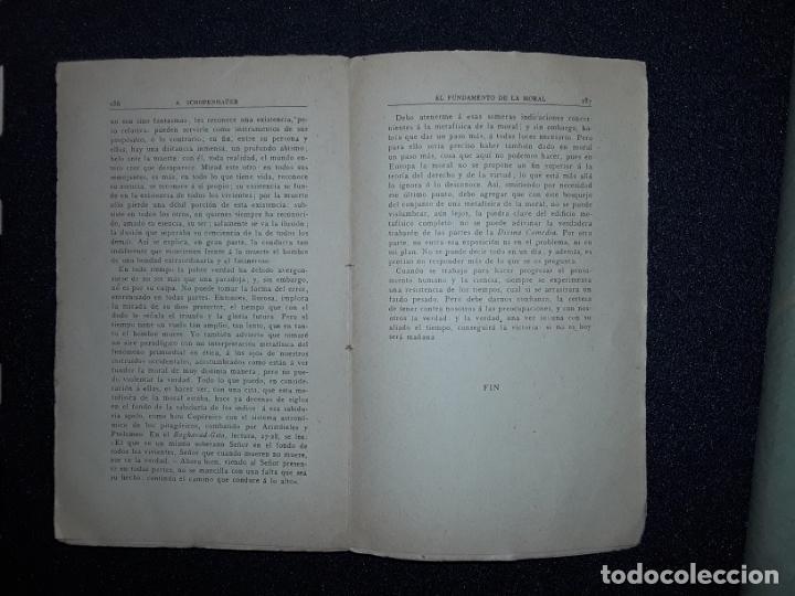 Libros antiguos: Schopenhauer. Su pensamiento acerca de la moral. Crítica a Kant. Filosofía. - Foto 4 - 208122771