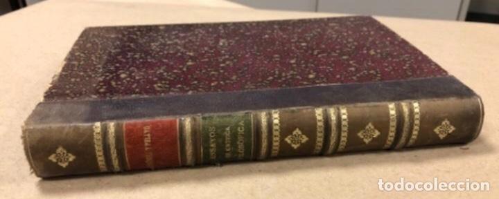 Libros antiguos: OBRAS COMPLETAS DE MARCELINO MENÉNDEZ Y PELAYO. ENSAYOS DE CRÍTICA FILOSÓFICA. EDITADO EN 1918 - Foto 2 - 208320207