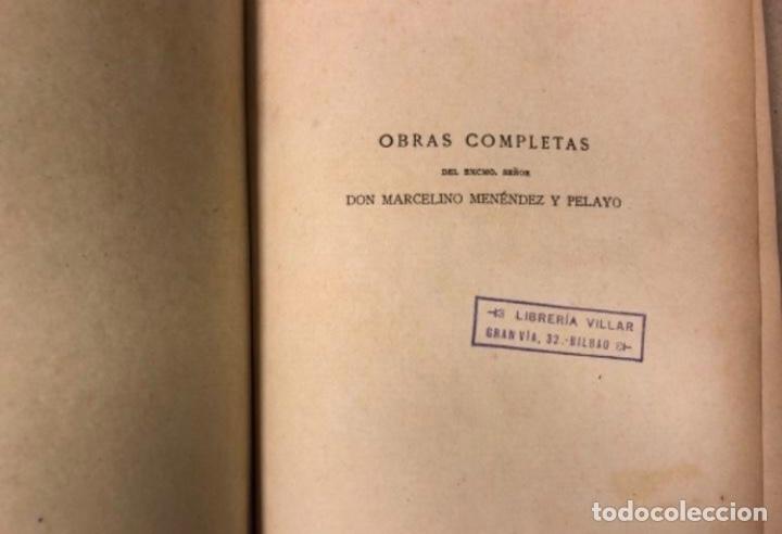 Libros antiguos: OBRAS COMPLETAS DE MARCELINO MENÉNDEZ Y PELAYO. ENSAYOS DE CRÍTICA FILOSÓFICA. EDITADO EN 1918 - Foto 3 - 208320207