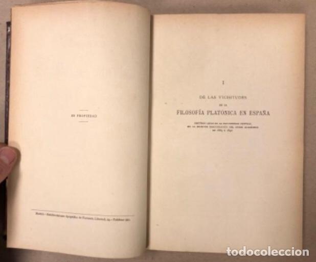Libros antiguos: OBRAS COMPLETAS DE MARCELINO MENÉNDEZ Y PELAYO. ENSAYOS DE CRÍTICA FILOSÓFICA. EDITADO EN 1918 - Foto 5 - 208320207