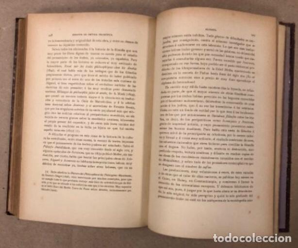 Libros antiguos: OBRAS COMPLETAS DE MARCELINO MENÉNDEZ Y PELAYO. ENSAYOS DE CRÍTICA FILOSÓFICA. EDITADO EN 1918 - Foto 8 - 208320207