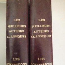 Libros antiguos: JEAN-JACQUES ROUSSEAU - LES CONFESSIONS, 2 VOLS, FLAMMARION 1930. Lote 208445680