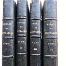 Libros antiguos: L-5477. LES ESSAIS DE MONTAIGNE. MM.H. MOTHEAU ET D. JOUAUST. 4 TOMES. PARIS, 1873.. Lote 210787590