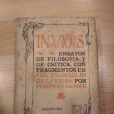 Libros antiguos: 'INDUCCIONES. ENSAYOS DE FILOSOFÍA Y DE CRÍTICA'. 1901. Lote 210956624