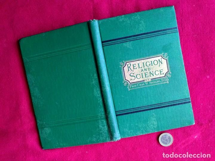 LIBRO ANTIGUO RELIGIÓN Y CIENCIA EN INGLÉS (Libros Antiguos, Raros y Curiosos - Pensamiento - Filosofía)