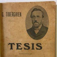 Libros antiguos: TESIS. - TIBERGHIEN, G.. Lote 123252280