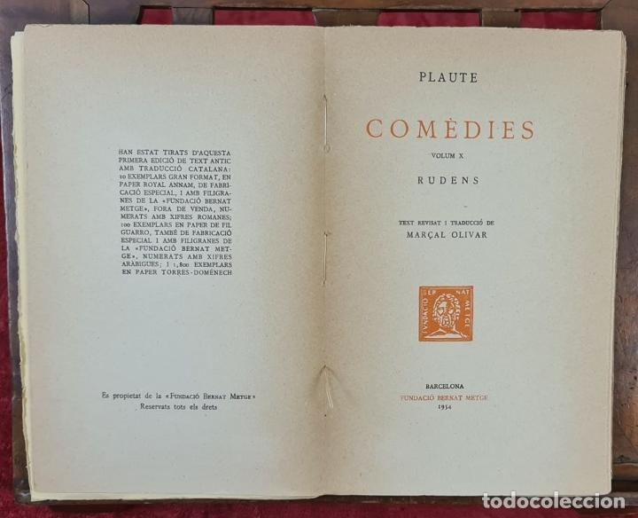 Libros antiguos: COLECCION DE 127 VOLUMENES. FUNDACION BERNAT METGE. EMPORIUM. SIGLO XX. - Foto 3 - 213545240