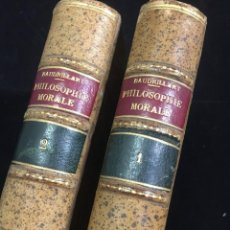 Libros antiguos: ÉTUDES DE PHILOSOPHIE MORALE ET D'ECONOMIE POLITIQUE M. H: BAUDRILLART 1858, 2 TOMES. PIEL FRANCAIS. Lote 217883647