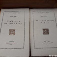 Libros antiguos: COL. BERNAT METGE. 2 OBRES DE XENOFONT. TRAD. CARLES RIBA. Lote 218124727
