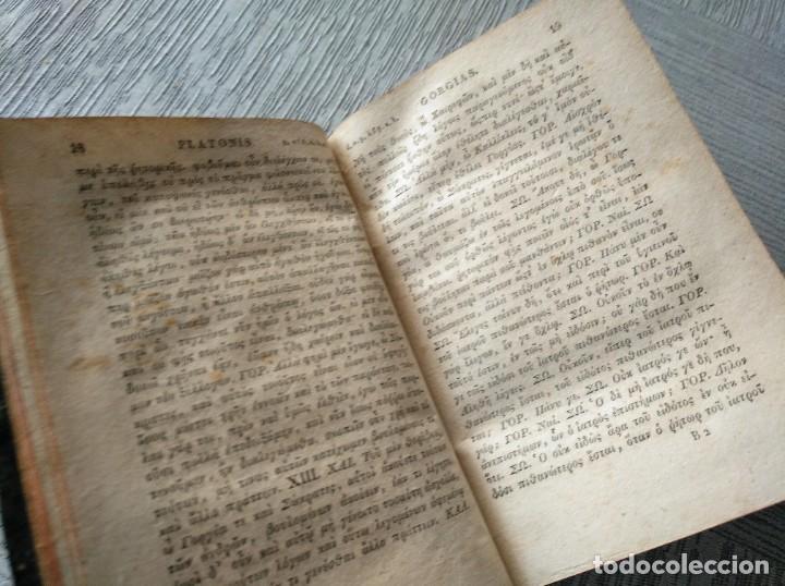 Libros antiguos: PLATONIS OPERA (1829) - OBRAS DE PLATÓN EN GRIEGO, CON ANOTACIONES EN LATÍN - Foto 3 - 218925576