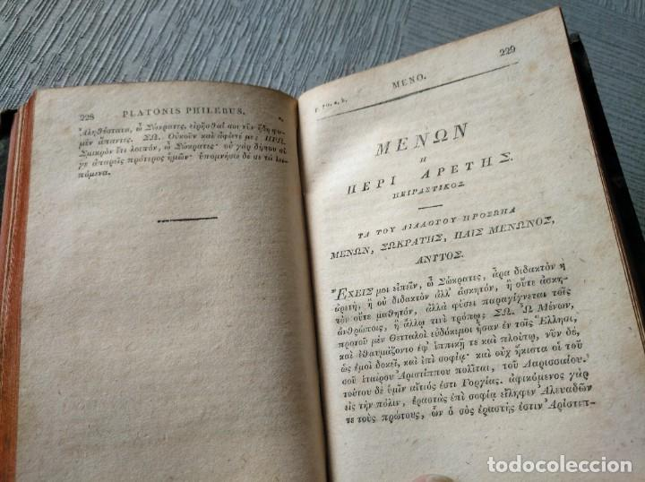 Libros antiguos: PLATONIS OPERA (1829) - OBRAS DE PLATÓN EN GRIEGO, CON ANOTACIONES EN LATÍN - Foto 4 - 218925576