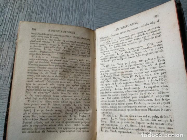 Libros antiguos: PLATONIS OPERA (1829) - OBRAS DE PLATÓN EN GRIEGO, CON ANOTACIONES EN LATÍN - Foto 6 - 218925576