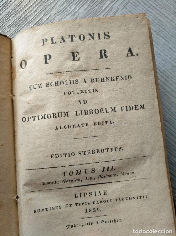 Libros antiguos: PLATONIS OPERA (1829) - OBRAS DE PLATÓN EN GRIEGO, CON ANOTACIONES EN LATÍN - Foto 9 - 218925576