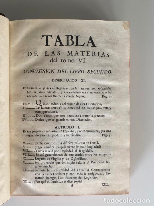Libros antiguos: la falsa filosofía ó el ateísmo . crimen de estado , tomo sexto , madrid 1776 - Foto 5 - 219490495