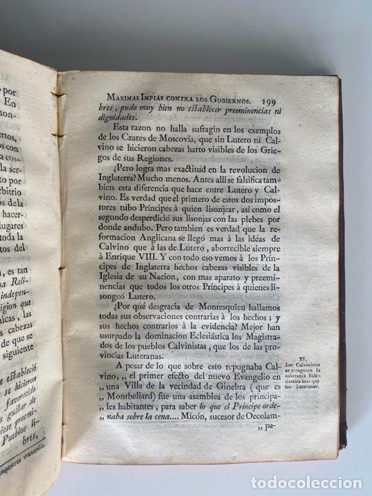 Libros antiguos: la falsa filosofía ó el ateísmo . crimen de estado , tomo sexto , madrid 1776 - Foto 8 - 219490495