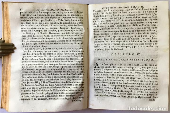 Libros antiguos: INDICE DE LA PHILOSOFIA MORAL, CHRISTIANO-POLITICA, DIRIGIDO A LOS NOBLES DE NACIMIENTO, Y ESPIRITU, - Foto 4 - 123176555