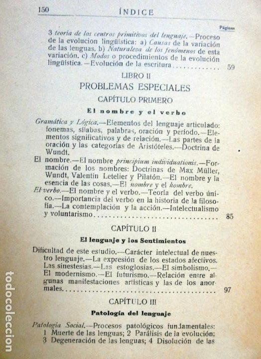 Libros antiguos: Filosofía del Lenguaje.DIEZ BLANCO, Alejandro.1925 - Foto 3 - 97227079