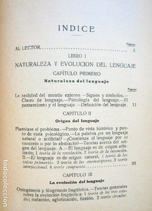 Libros antiguos: Filosofía del Lenguaje.DIEZ BLANCO, Alejandro.1925 - Foto 4 - 97227079