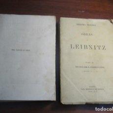 Libros antiguos: TOMO I- TOMO III OBRAS FILOSOFICAS DE LEIBNITZ BIBLIOTECA FILOSOFICA 1877 MADRID. Lote 221623450