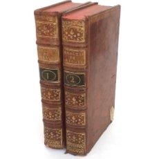 Libros antiguos: 1768 - LOS CARACTERES DE TEOFRASTO Y DE LA BRUYÈRE - COMPLETO EN 2 TOMOS - FILOSOFÍA - SIGLO XVIII. Lote 221651926