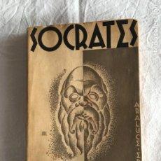 Libros antiguos: TEÓFILO ORTEGA. SÓCRATES. PRÓLOGO DE RAMIRO DE MAEZTU. PORTADA Y RETRATO DE E. ABRIL. BARNA, 1935.. Lote 222011220