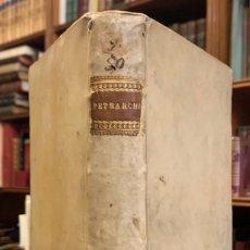 Libros antiguos: TRIOMPHI DI MESER FRANCESCO PETRARCHA CON LA LORO OPTIMA SPOSITIONE. PETRARCA. Lote 222123083