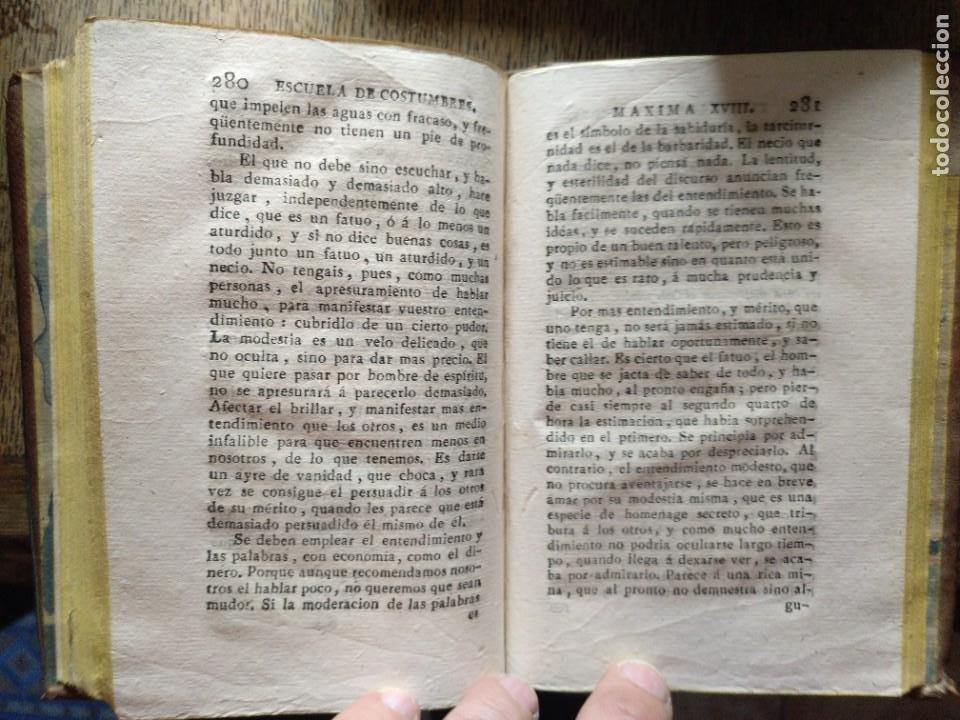 Libros antiguos: Escuela de Costumbres o reflexiones morales e históricas. Blanchard 1797 - Foto 6 - 222339241