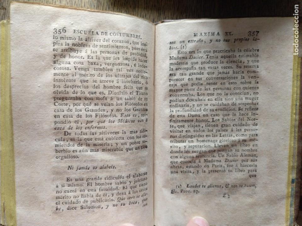 Libros antiguos: Escuela de Costumbres o reflexiones morales e históricas. Blanchard 1797 - Foto 7 - 222339241