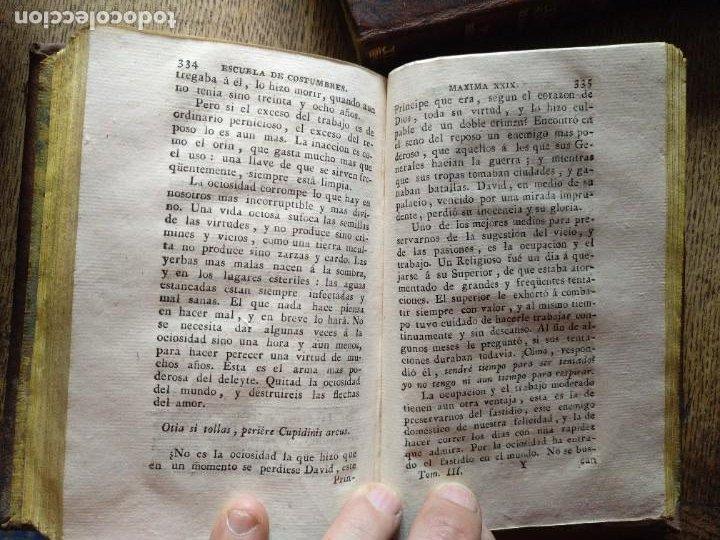 Libros antiguos: Escuela de Costumbres o reflexiones morales e históricas. Blanchard 1797 - Foto 9 - 222339241