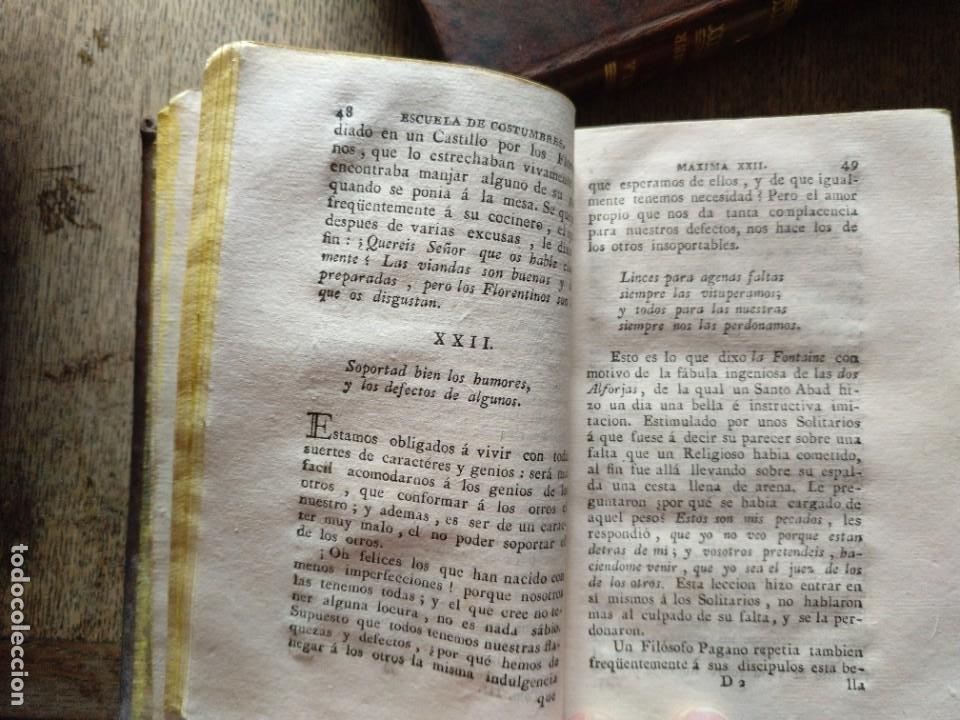 Libros antiguos: Escuela de Costumbres o reflexiones morales e históricas. Blanchard 1797 - Foto 11 - 222339241