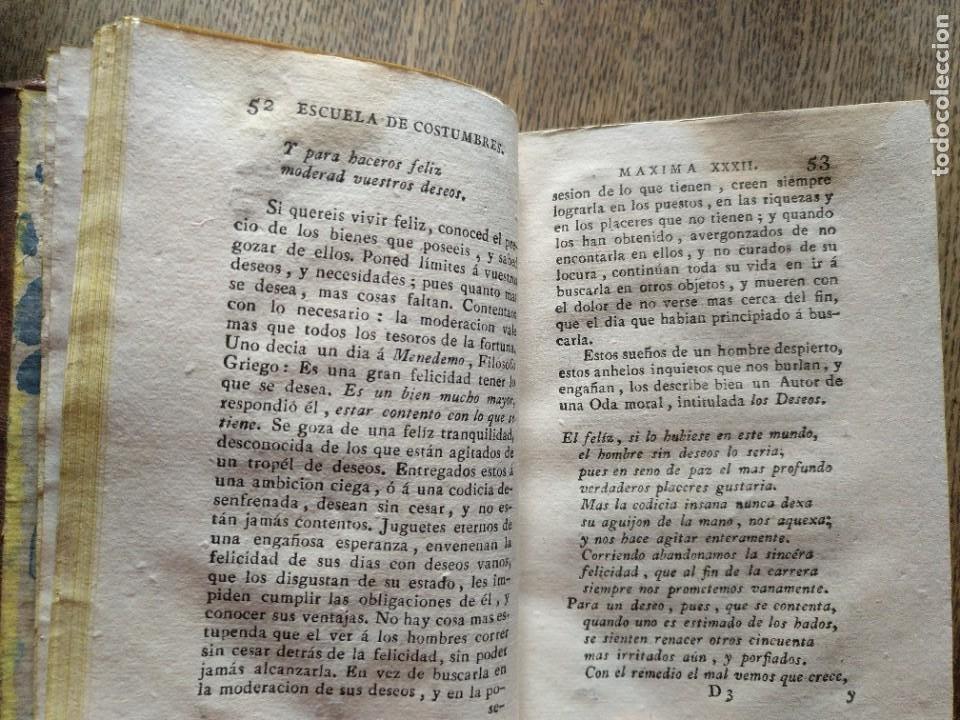 Libros antiguos: Escuela de Costumbres o reflexiones morales e históricas. Blanchard 1797 - Foto 14 - 222339241