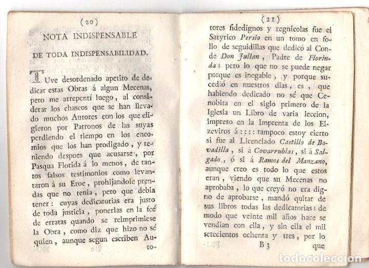 Libros antiguos: CARTAS, OBSERVACIONES Y DISERTACIONES SOBRE ALGUNAS BAGATELAS Y PARVULECES IMPRESAS EN MADRID 1783 - Foto 2 - 222453516