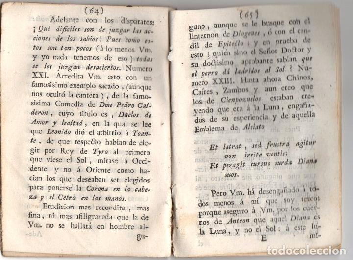 Libros antiguos: CARTAS, OBSERVACIONES Y DISERTACIONES SOBRE ALGUNAS BAGATELAS Y PARVULECES IMPRESAS EN MADRID 1783 - Foto 4 - 222453516