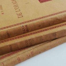 Libros antiguos: CICERÓ: DE L'ORADOR (3 VOLS. EN CATALÁN) 1929. Lote 222652355