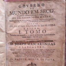 Livres anciens: GOVERNO DO MUNDO EM SECO, PALABRAS EMBRULHADAS EM PAPEIS, OU ... 1751. MUY RARO. EXCELENTE PRECIO.. Lote 224195725