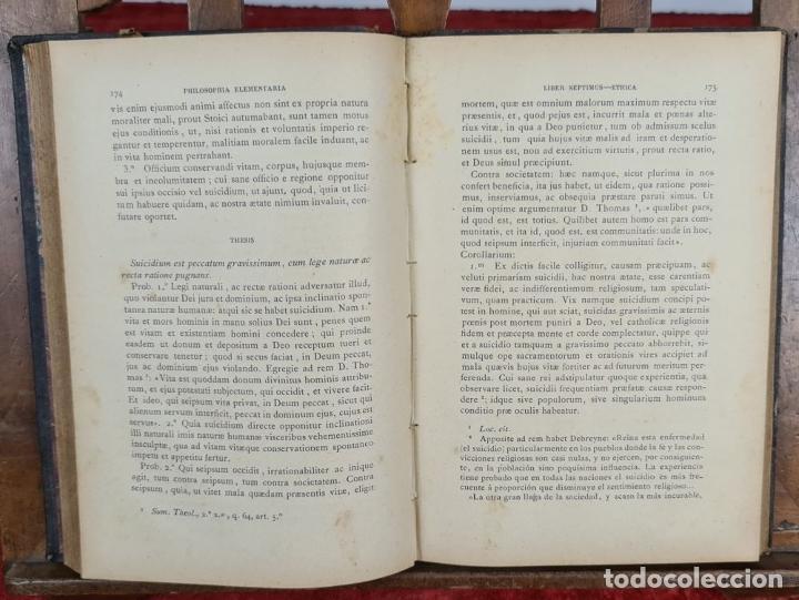 Libros antiguos: PHILOSOPHIA ELEMENTARIA AD USUM. ZEPHYRINI GONZALEZ. LIB. SANCTI. 3 VOL. 1889. - Foto 4 - 224450392
