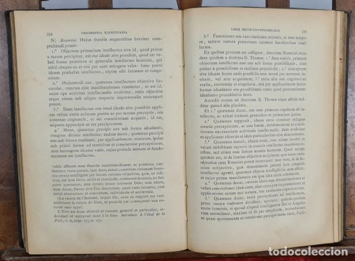 Libros antiguos: PHILOSOPHIA ELEMENTARIA AD USUM. ZEPHYRINI GONZALEZ. LIB. SANCTI. 3 VOL. 1889. - Foto 5 - 224450392