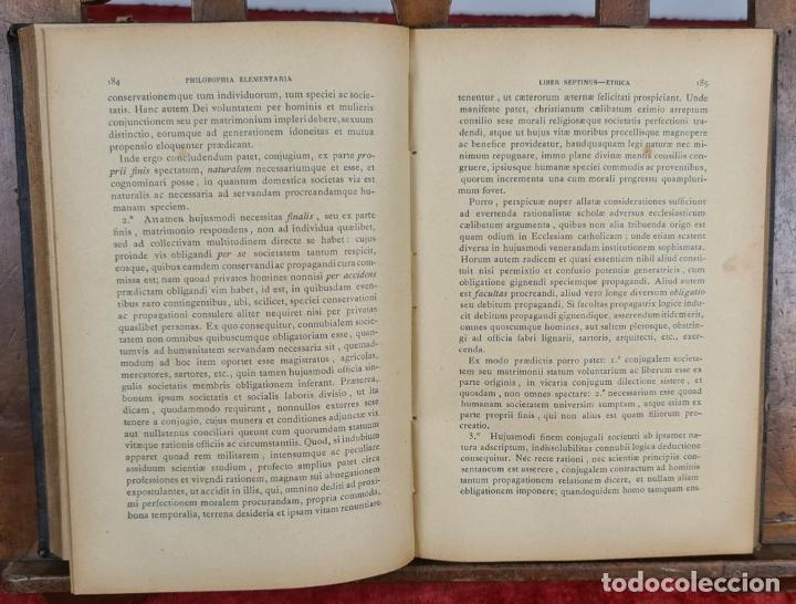 Libros antiguos: PHILOSOPHIA ELEMENTARIA AD USUM. ZEPHYRINI GONZALEZ. LIB. SANCTI. 3 VOL. 1889. - Foto 6 - 224450392