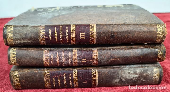 PHILOSOPHIA ELEMENTARIA AD USUM. ZEPHYRINI GONZALEZ. LIB. SANCTI. 3 VOL. 1889. (Libros Antiguos, Raros y Curiosos - Pensamiento - Filosofía)