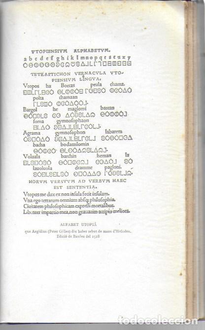Libros antiguos: Utopia / Thomas Morus; 1a. trad. catalana J. Pin Soler. BCN : LAvenç, 1912. ex paper verjurat (250) - Foto 12 - 224727511