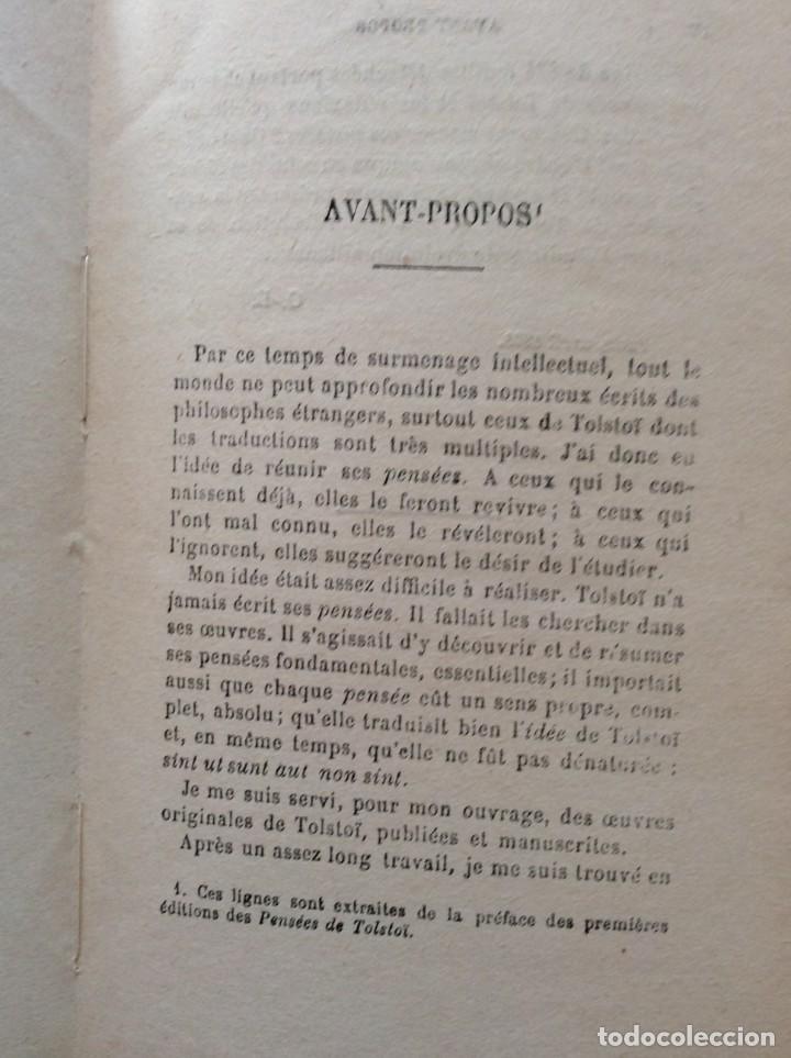 Libros antiguos: La philosophie de Tolstoï, suivie de ses pensées - OSSIP-LOURIÉ, 1931 - Foto 3 - 225614855