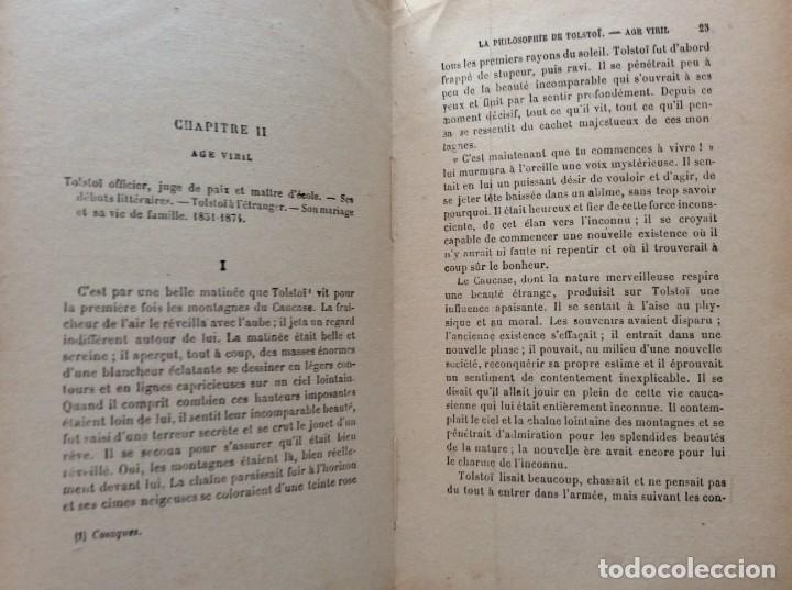 Libros antiguos: La philosophie de Tolstoï, suivie de ses pensées - OSSIP-LOURIÉ, 1931 - Foto 5 - 225614855