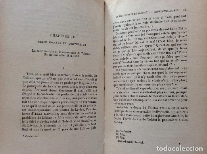 Libros antiguos: La philosophie de Tolstoï, suivie de ses pensées - OSSIP-LOURIÉ, 1931 - Foto 6 - 225614855