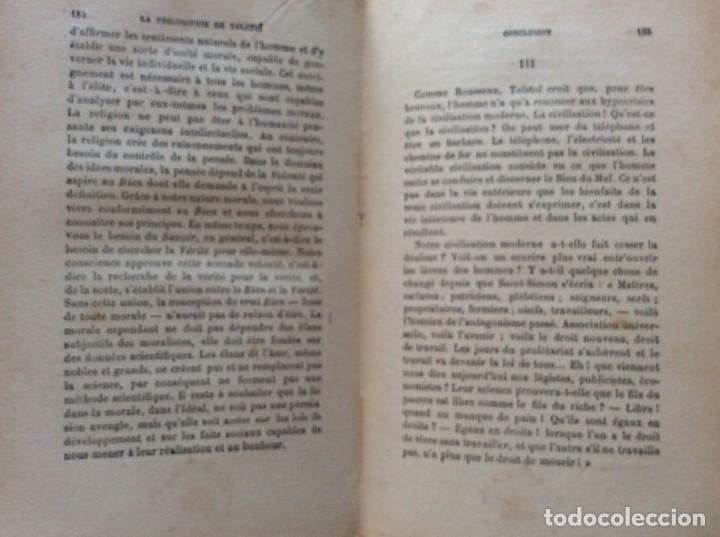 Libros antiguos: La philosophie de Tolstoï, suivie de ses pensées - OSSIP-LOURIÉ, 1931 - Foto 7 - 225614855
