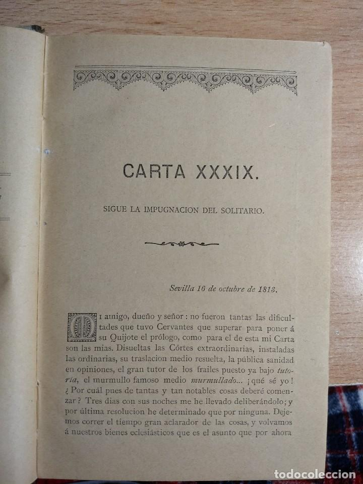 Libros antiguos: CARTAS CRÍTICAS QUE ESCRIBIÓ EL FILÓSOFO RANCIO - FRANCISCO ALVARADO DE LA ÓRDEN (TOMO VI, 1881) - Foto 4 - 227104680