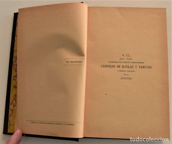 Libros antiguos: HISTORIA DE LA FILOSOFÍA ESPAÑOLA (SIGLOS VIII-XII: JUDÍOS) - ADOLFO BONILLA - MADRID 1911 - Foto 4 - 227754174