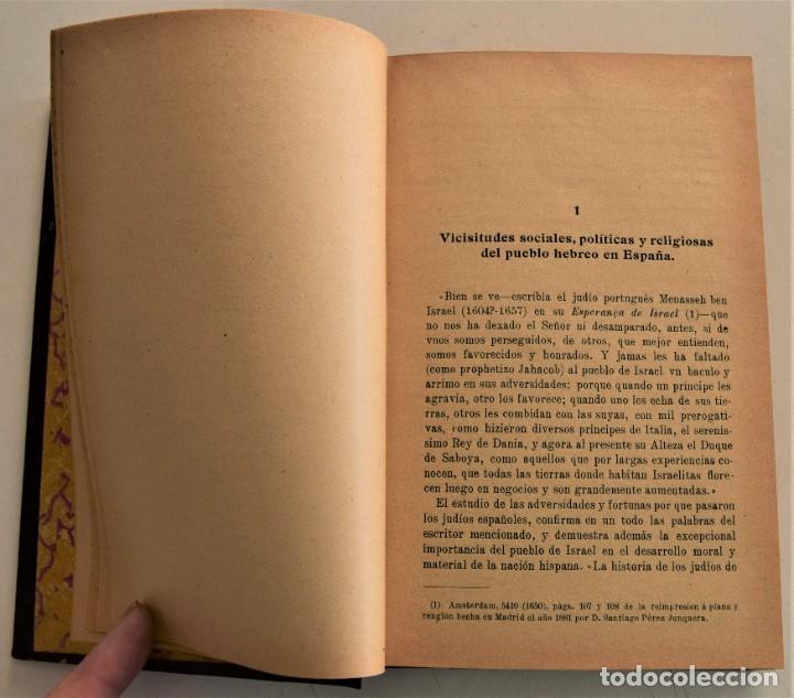 Libros antiguos: HISTORIA DE LA FILOSOFÍA ESPAÑOLA (SIGLOS VIII-XII: JUDÍOS) - ADOLFO BONILLA - MADRID 1911 - Foto 5 - 227754174