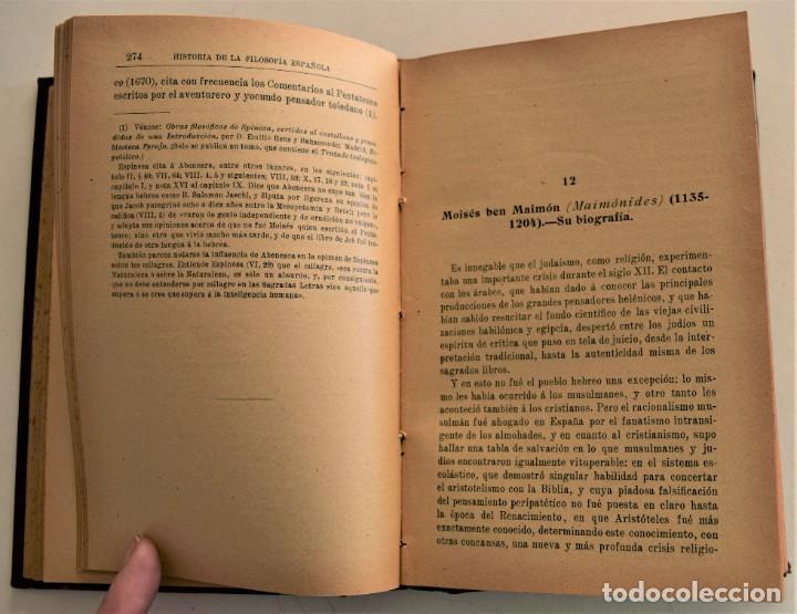 Libros antiguos: HISTORIA DE LA FILOSOFÍA ESPAÑOLA (SIGLOS VIII-XII: JUDÍOS) - ADOLFO BONILLA - MADRID 1911 - Foto 6 - 227754174