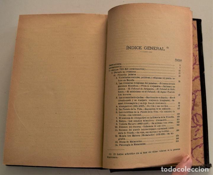 Libros antiguos: HISTORIA DE LA FILOSOFÍA ESPAÑOLA (SIGLOS VIII-XII: JUDÍOS) - ADOLFO BONILLA - MADRID 1911 - Foto 7 - 227754174